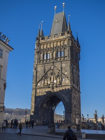 Old Town Bridge Tower in Prague, Czech Republic