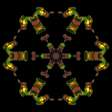 Kaleidoscopic ornamental pattern Stock Photo