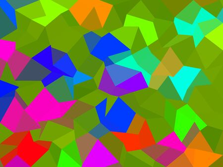 Colors low poly triangle style vector mosaic background Illustration
