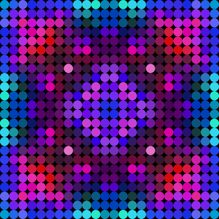Kaleidoscopic low poly circle style vector mosaic background
