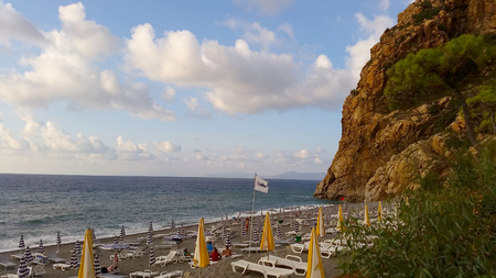 Capo Calava, Sicily, Italy - SEPT 5, 2016: Capo Calava is popular recreational tourist center.