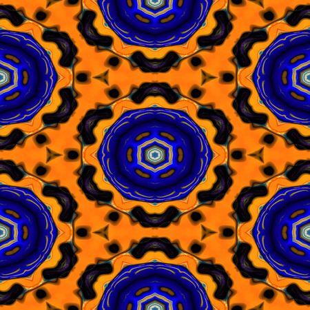 Kaleidoscopic ornamental pattern 스톡 콘텐츠