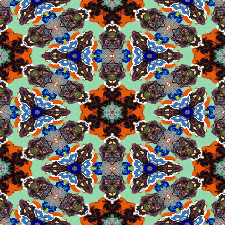 Spot kaleidoscopic seamless generated hires texture or background Stockfoto
