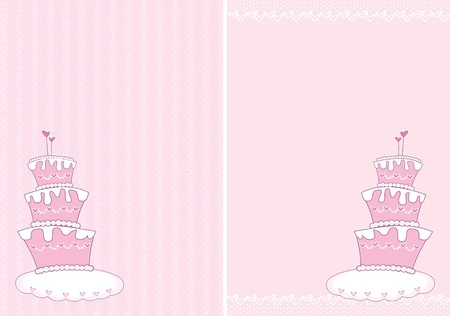 Wedding cake for the congratulations