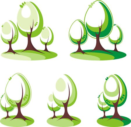 trees Stock Vector - 4921929