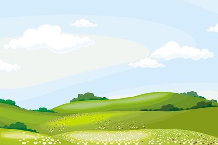 paisaje Ilustración de vector