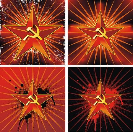 Communist background Vector