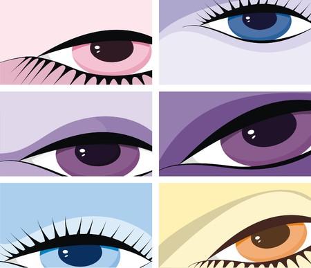 symbolic image of eyes Stock Vector - 5238159