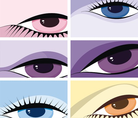 symbolic image of eyes Illustration