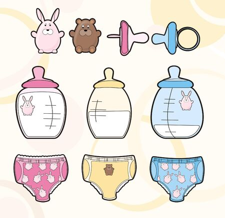 botella para el niño mama con el chupete