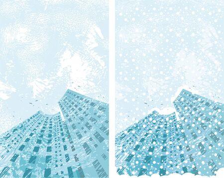 Winter city Stock Vector - 5839323