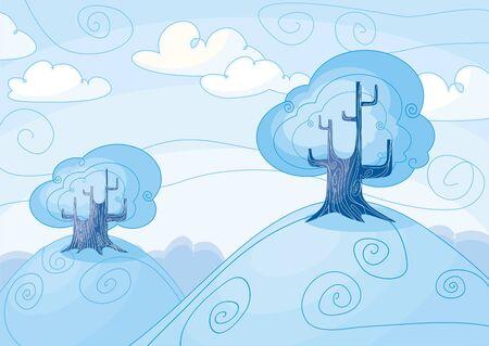 Winter landscape Stock Vector - 5839318