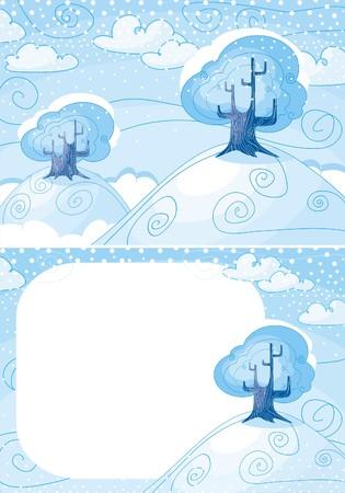 Winter landscape Stock Vector - 5839316