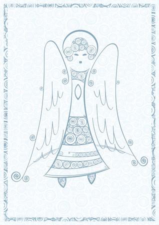 Christmas angel Stock Vector - 6126878