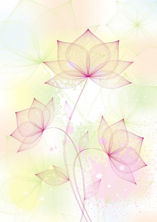 arty:  floral background