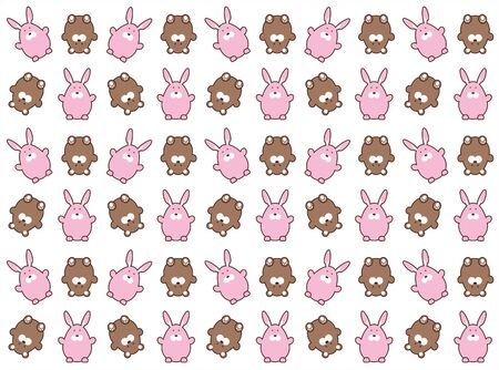bruins: background with bruins and pink hare