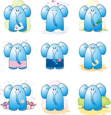 Cartoon Elephant Stock Vector - 7364806
