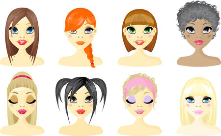 head and shoulders: Avatar Icon Women
