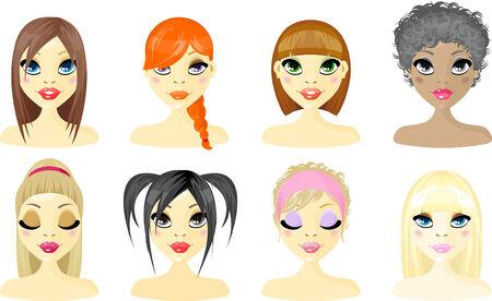 caricaturas de personas: Mujer de icono de Avatar