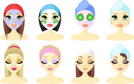 Avatar icône femmes  Vecteurs