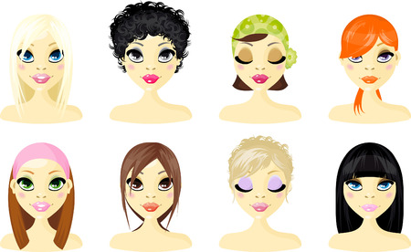 dark face: Avatar Icon Women