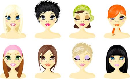 dibujos animados de mujeres: Mujer de icono de Avatar