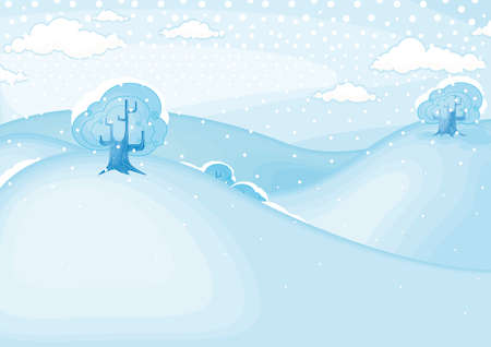 Winter landscape  Vector