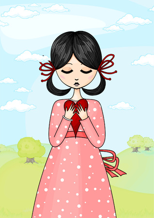 girl with a heart