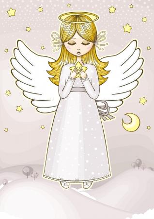 alas de angel: Angel con una estrella