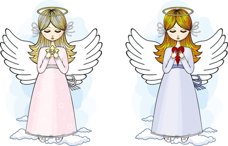 Angels set Vector