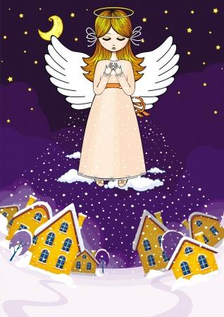 snow field: Angel Illustration