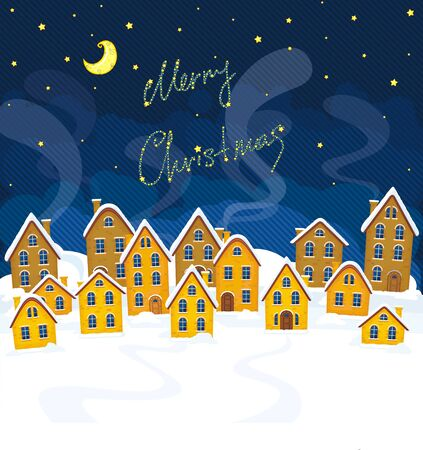 Vector illustration of Christmas suburbs Stock Vector - 16593504