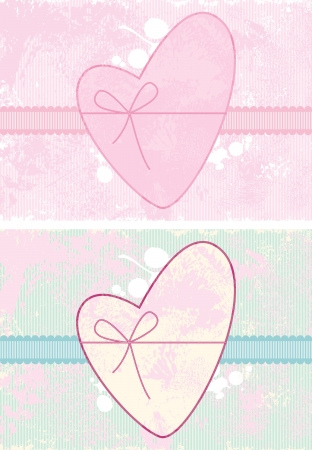 valentine background with heart  Illustration