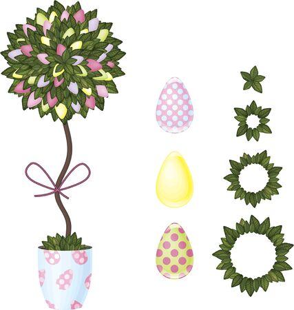 easter tree: Easter tree Stock Illustratie