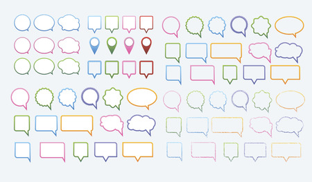 Vector set of various speech bubbles  Vector