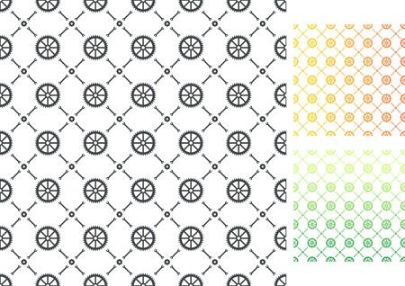 Gears patterns, vector illustration Illustration