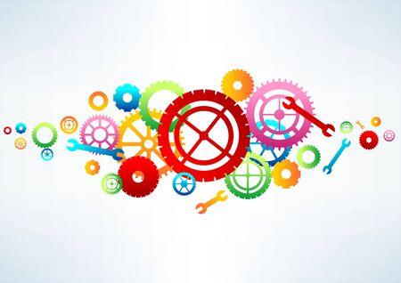 Gears background, vector illustration Illustration