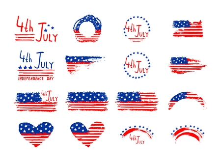 4th July Independence Day hand background