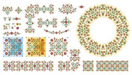 rada: Floral vector illustration set