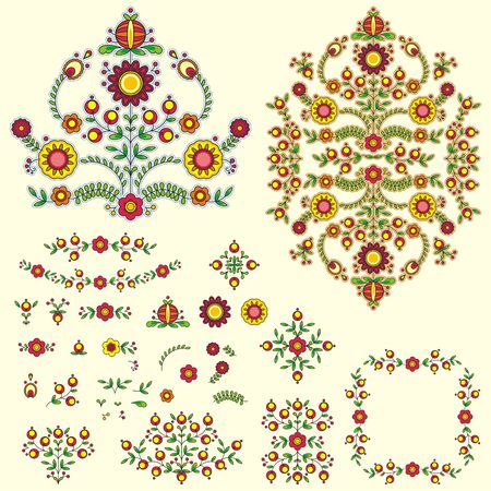 Floral vector illustration set