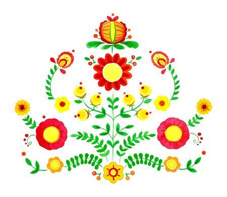 Floral watercolor vector illustration