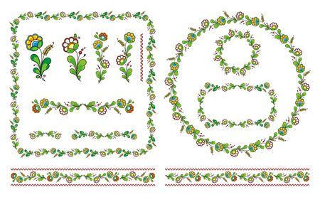 vector floral ornament, ukrainian national ornament Illustration