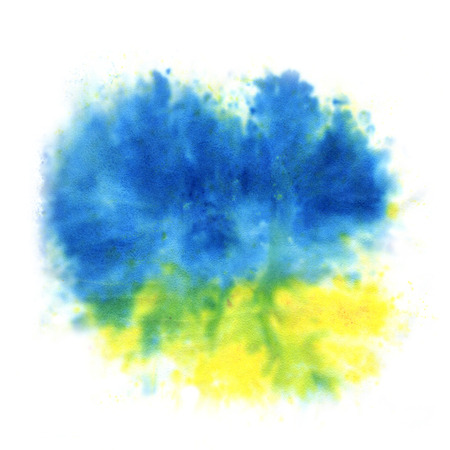 yellow and blue watercolor background