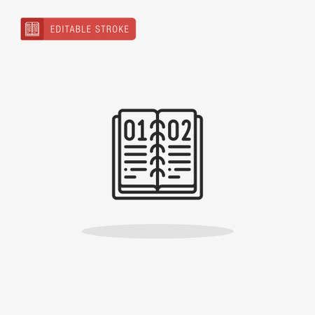 Book icon vector. Book icon for presentation. Illustration