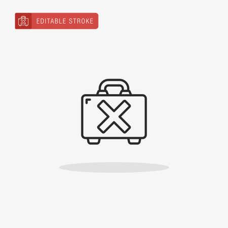 Suitcase icon vector. Suitcase icon for presentation.