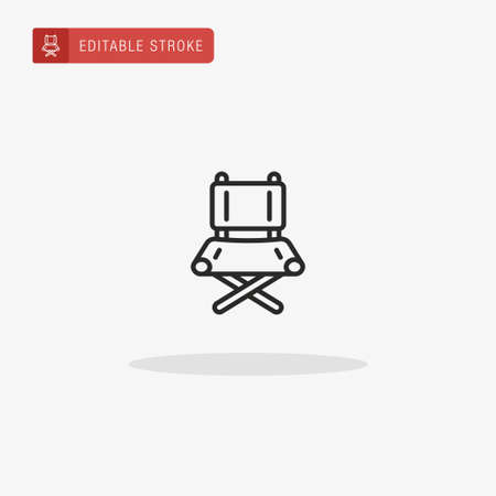 Chair icon vector. Chair icon for presentation. Ilustração