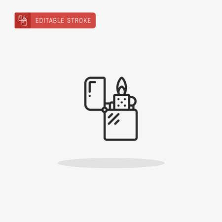 Lighter icon vector. Lighter icon for presentation. Ilustrace