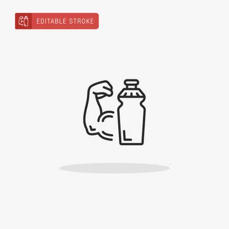 Protein Shake icon vector. Protein Shake icon for presentation.