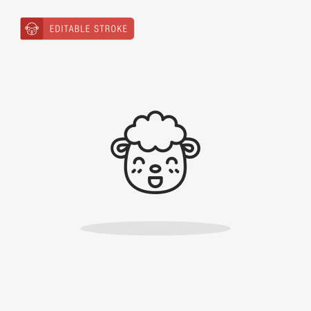 Sheep icon vector. Sheep icon for presentation. Stock Illustratie
