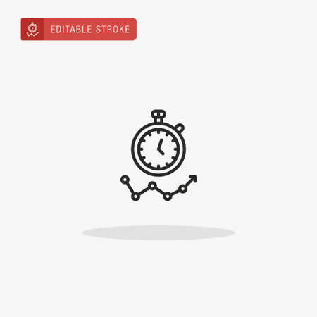 Stopwatch icon vector. Stopwatch icon for presentation.
